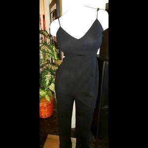 Black crepe Jumpsuit